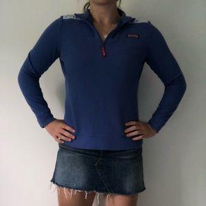 Vineyard Vines Blue Sailboat Print Shep Shirt ((M)
